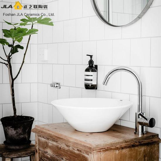 China White 8x8inch20x20cm Glossy Glazed Bathroom Ceramic Tile Non