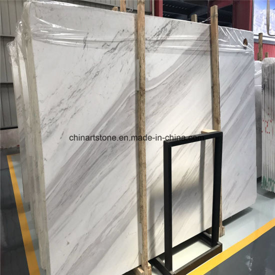 Italy Volakas White Marble Slab for Floor and Wall Tile Project