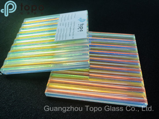 Different Angles Show Different Colors Gradient Pattern Art Laminated Glass  (LG-TP)