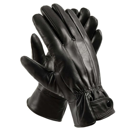 Winter Men's Genuine Leather Warm Driving Motorcycle Gloves Leather
