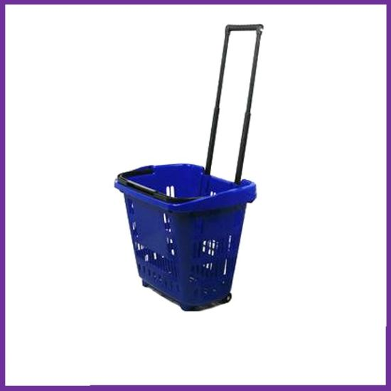 New Retail Supermarket Plastic Shopping Mini Trolley pictures & photos