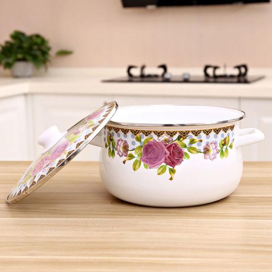5PCS High Quality Kitchen Tools Enamel Cooking Pot Set