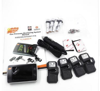 100% Original New Orange High-Brightness LED Display 4-Wheel Vehicle Wireless Tire Pressure Monitoring System TPMS P409s