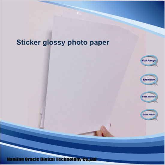 Koala Factory Manufacture Inkjet Glossy Adhesive Photo Paper, 115g/135g/150g Glossy Sticker Photo Paper pictures & photos