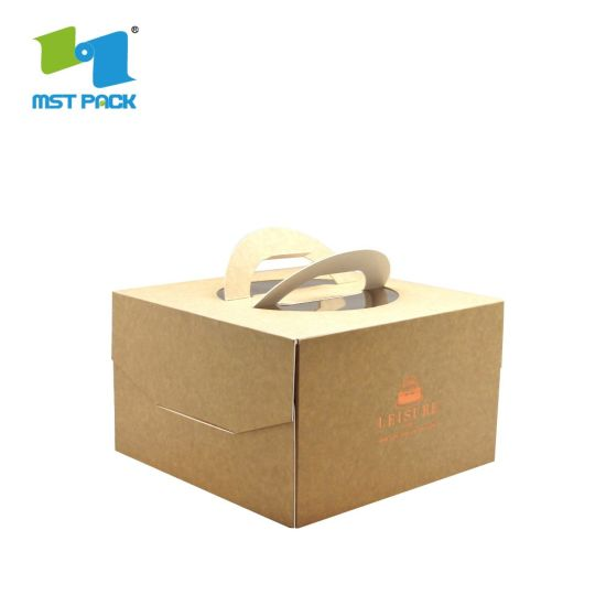 China Food Grade Paper Cardboard Box Cake Packaging Box with