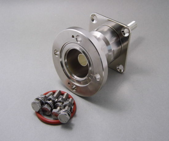 """1-5/8"""" 13/8'' Eia Flange 70mmsq Panel Mount Connector with Extended M*12 Thread Pin"""