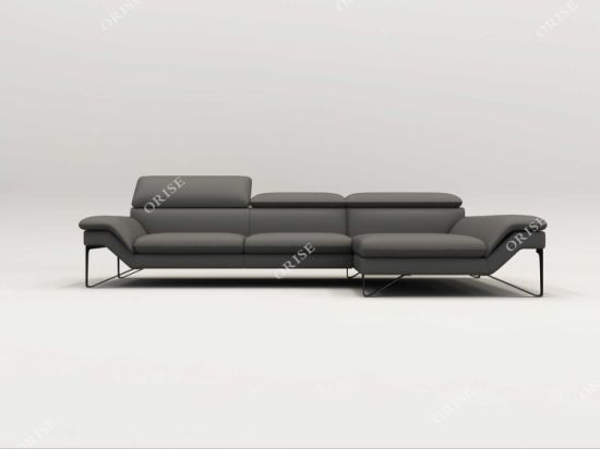High Quality Home Furniture Leather Couch with Armrest