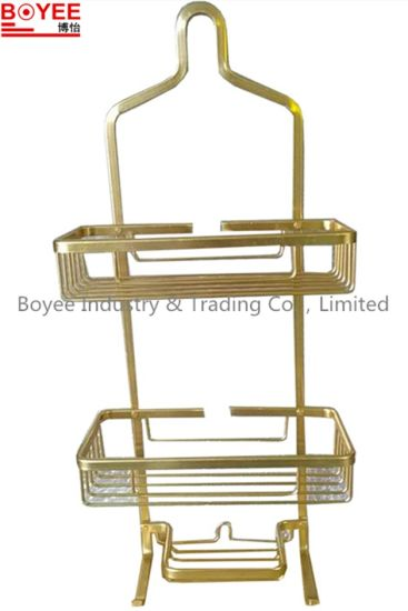 China Never Rust Aluminum Shower Caddy, Satin Chrome Aluminum ...