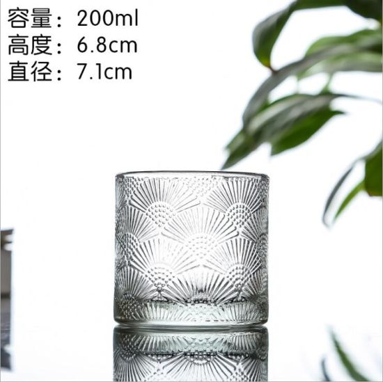 New Design Wholesale Empty Glass Candle Holders with Lid