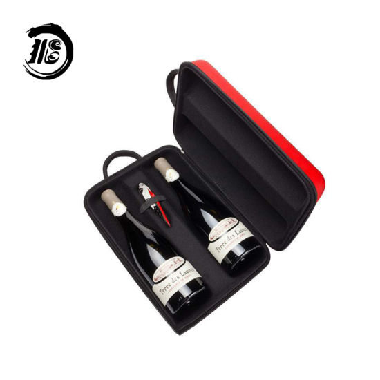 Custom Shockproof Portable Storage Box for Champagne Wine Bottle Box Carry Bag EVA Wine Case