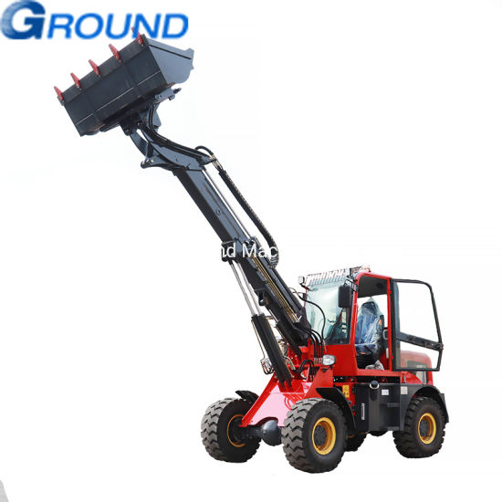 Telescopic wheel loader with 1.6ton bucket for earthmoving