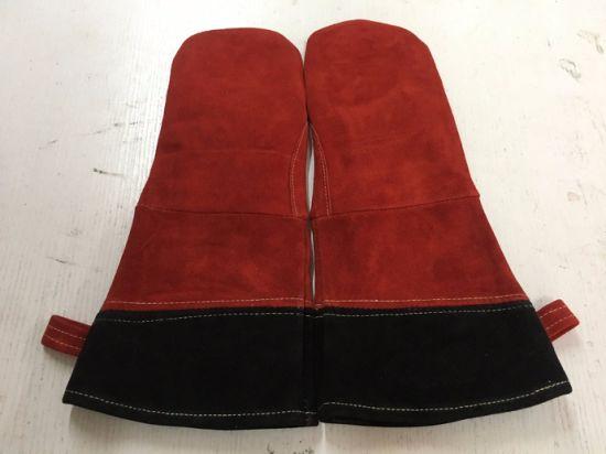 BBQ Glove,BBQ Leather Glove,BBQ Glove,Work Glove, Welding Glove Red Heat Resistant Hand Safety Protective; Leather; Work Glove, BBQ Hand Gloves, Hand BBQ Gloves