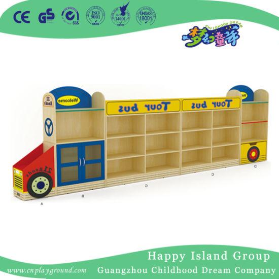Cute Bus Modeling Kids Wooden Toy Storage Cabinet (HJ-6703)