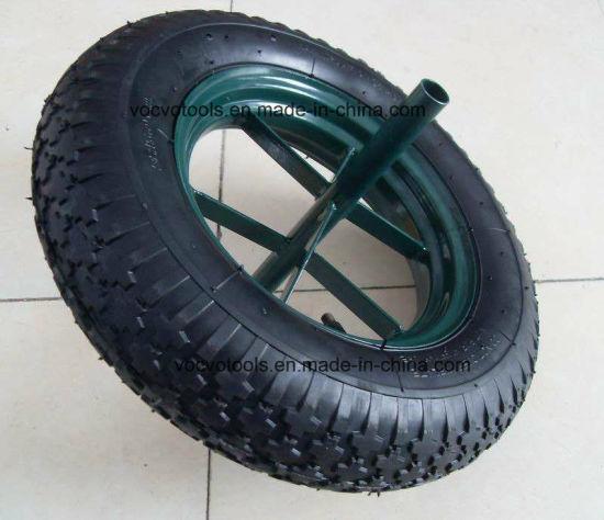 16inch Spoke Rim Rubber Air Wheel for Wheelbarrow Trolley