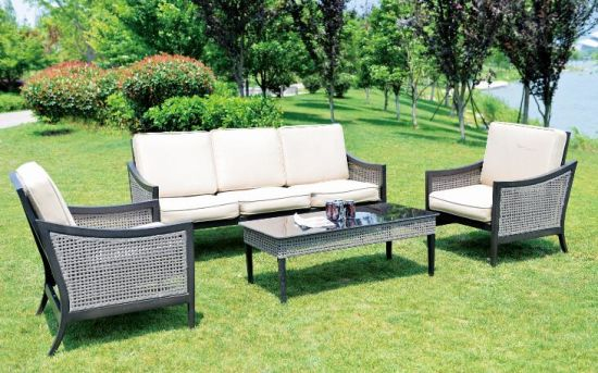 Outdoor Rattan Patio Furniture Sofa Sectional Couch Set pictures & photos