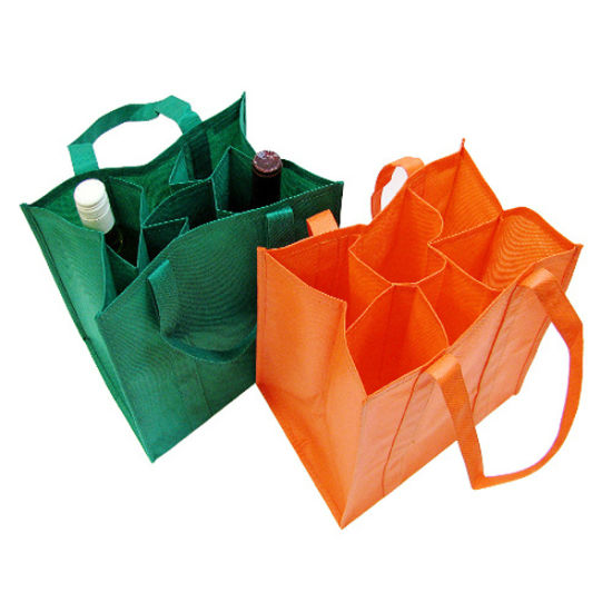 Multi Compartment Promotional Advertising Non Woven Bottle Bag