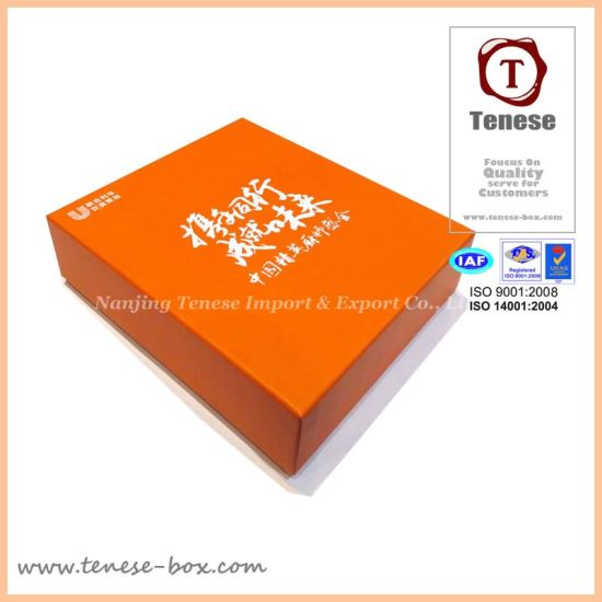 Anniversary Rigid Paper Cardboard Packing Gift Box for Cosmetic pictures & photos