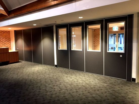 Acoustic Operable Partition Walls For School, Glassroom