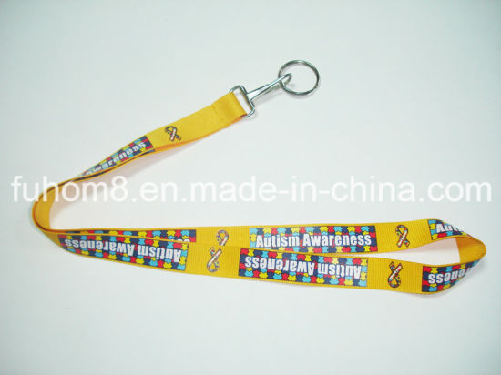 Customized Promotion Heat Transfer Printing Polyester Mobile Phone Lanyard