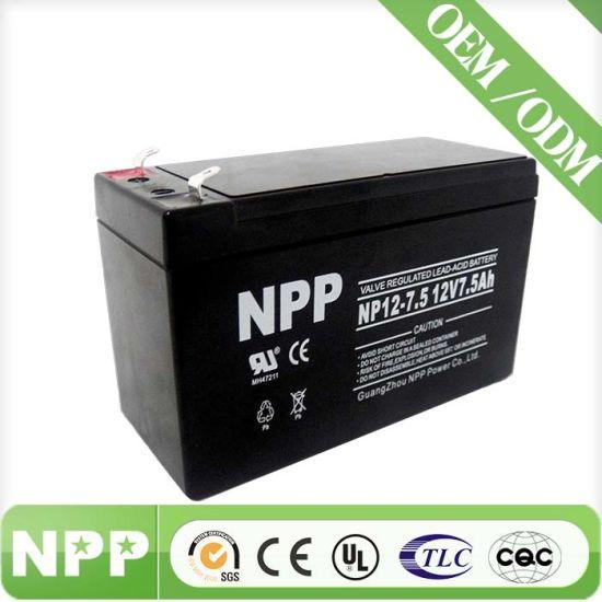 Sealed Lead Acid Battery for UPS Systems (12V7.5AH)