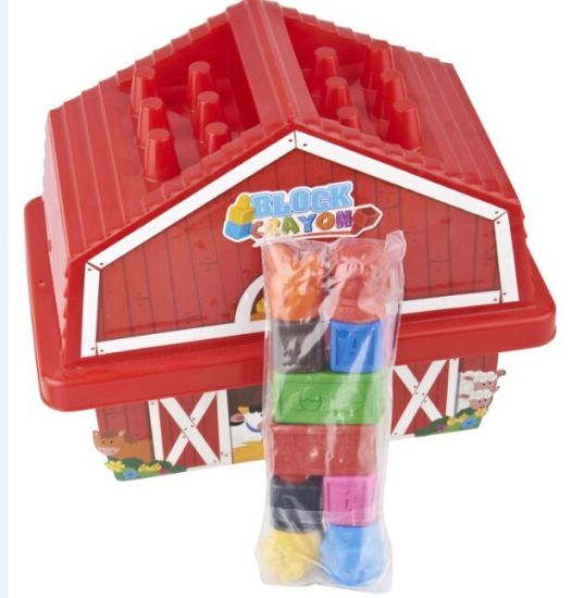 House Shaped Box 3d Crayon Set For Drawing Painting