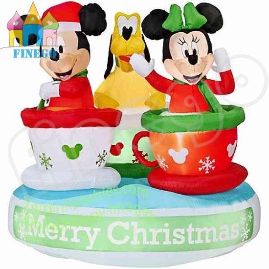 inflatable santa inflatable christmas mickey coffee cups - Mickey Inflatable Christmas Decorations