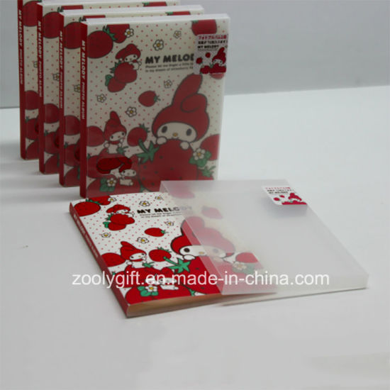 china printed plastic pp pvc 4x6 photo albums with clear box