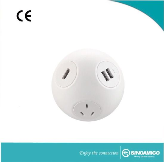 Perfect Color Round Desktop Socket Outlet