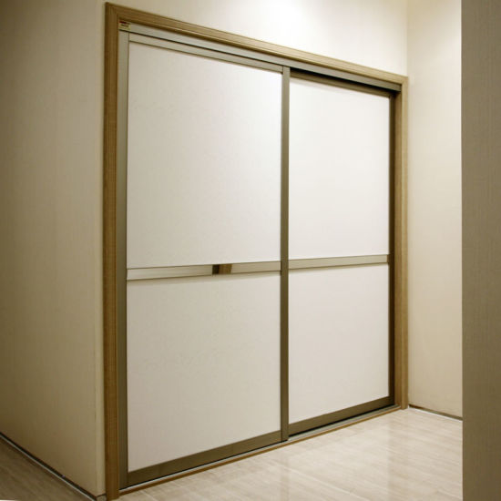 Oppein 2 Sliding Doors White Laminate Wardrobe (YG21231)