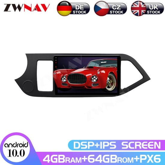 Px6 4G+64G Android 10.0 Car Multimedia Player for KIA Picanto Morning 2012-2015 Navi Radio Navi Stereo IPS Touch Screen Head Unit