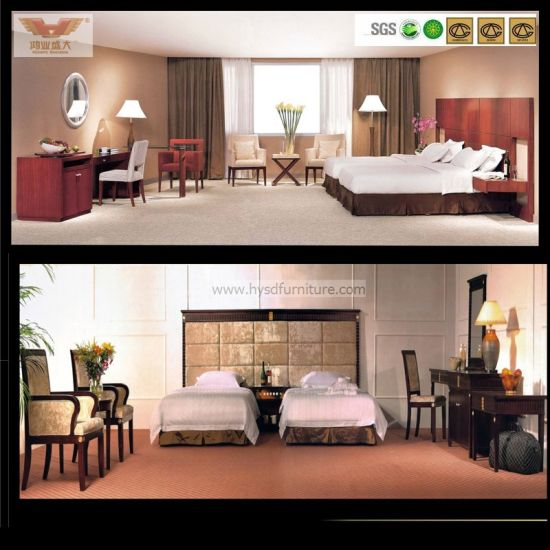 Modern 5 Star Professional Customized Wooden Standard Hotel Furniture (HY-039)