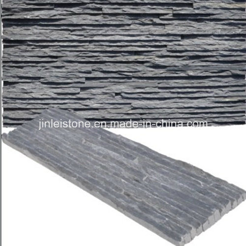 Chinese Natural Black Wall Cladding Culture Stone, Slate, Quartzite pictures & photos