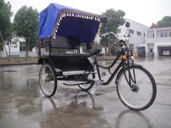 Pedal Foot Popular Rickshaw Tricycle Tuktuk (ZH-08) pictures & photos