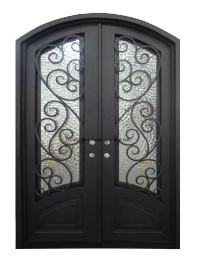 China Custom Fancy Hand Made Beautiful Iron Safety Door ...