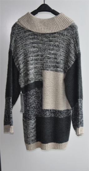 Winter Women Long Sleeve Patterned Knit Fit Sweater pictures & photos