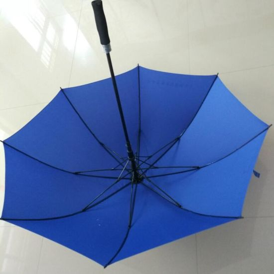 Durable Black Metal Shalft Auto Open Straight Umbrella with EVA Handle pictures & photos
