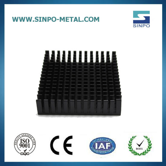 Aluminum Heat Sink with Black Anodization