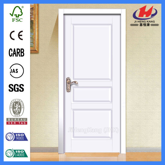 China Groove Pre Painted White Interior Molded Wood Door China Red