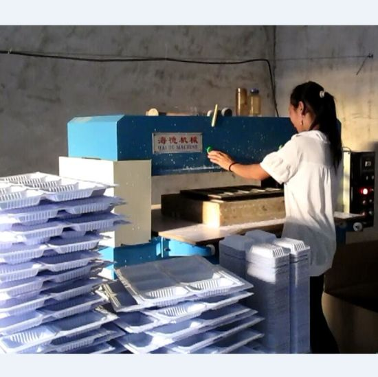 Hydraulic Plastic Food Container Cutting Machine