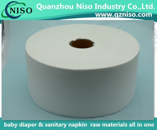 White Jumbo Roll Airlaid Paper for Sanitary Napkin (LSWCZ7100)