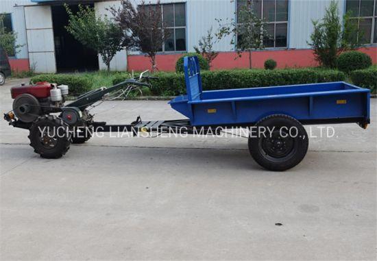 Factory Sale Two Wheel Small Tractor Hand Walking Tractor Trailer Hot Sale in Kenia Uganda