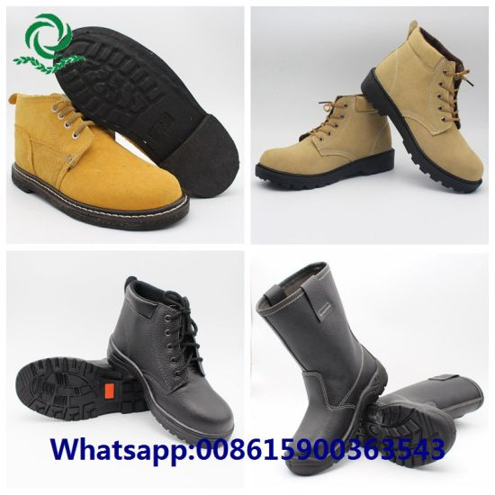 Steel Toe Steel Plate Men Leather Safety Shoes
