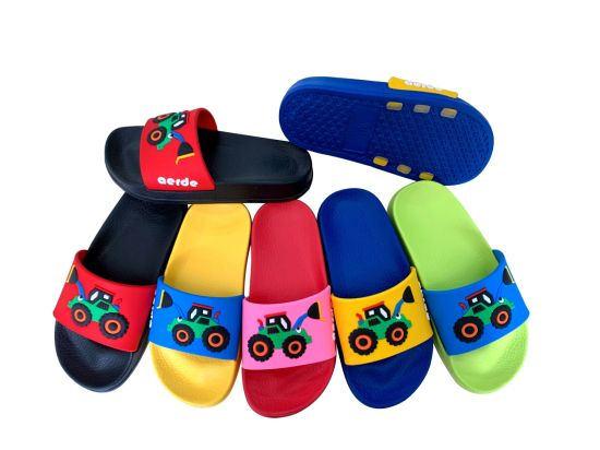 7 Colors EVA Sole with Different Customized PVC Upper Slipper