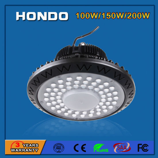 5 Years Warranty 100W/150W/200W 130lm/W UFO LED light Bay Lighting for Mine/Tunnel/Gas Station pictures & photos