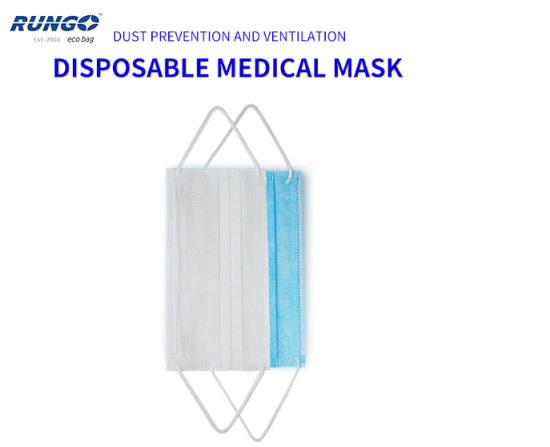 Non Woven 3 Ply Disposable Protective Face Mask with Ear-Loop