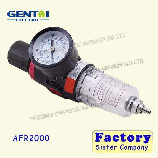 Afr2000 Air Source Treatment Unit Air Pressure Regulator with Gauge Air  Filter