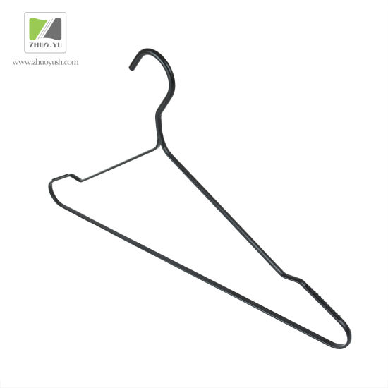 China High-End Black Metal Wire Clothes Hangers / Bottom / Coat ...