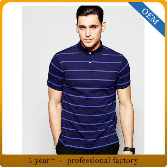 Wholesale Men's Short Sleeve Striped Polo Shirt