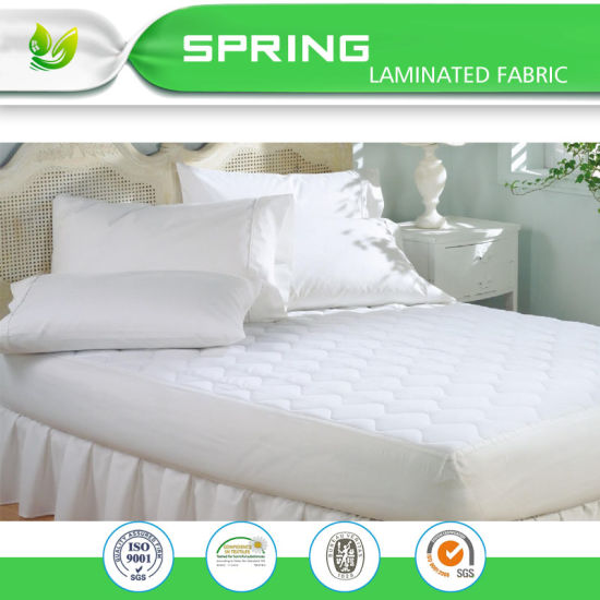 China Pu Coated Terry Mattress Protection Mattress Cover Waterproof