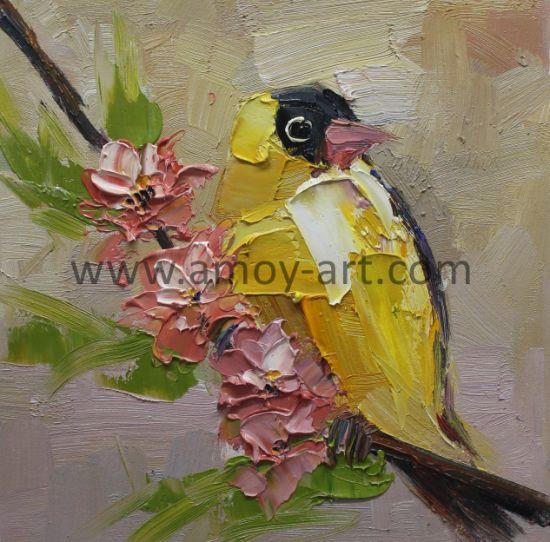 China High Quality Handmade Modern Palette Knife Bird Oil Painting ...